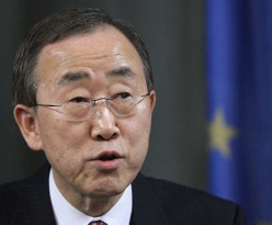UN chief Ban condemns suicide attack on peacekeepers in Mali