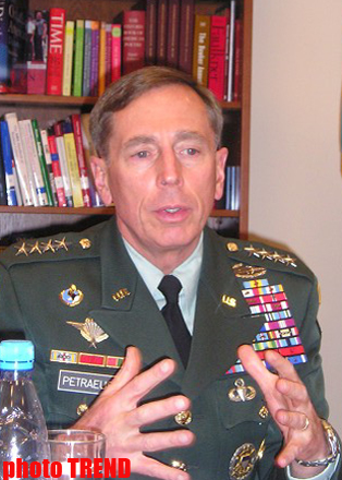 Commander of NATO-led troops General Petraeus hands over command in Kabul