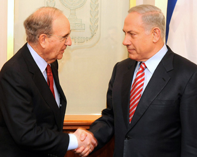 Netanyahu meets Mitchell, says still committed to peace process