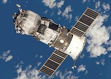 Russian space freighter docks with ISS