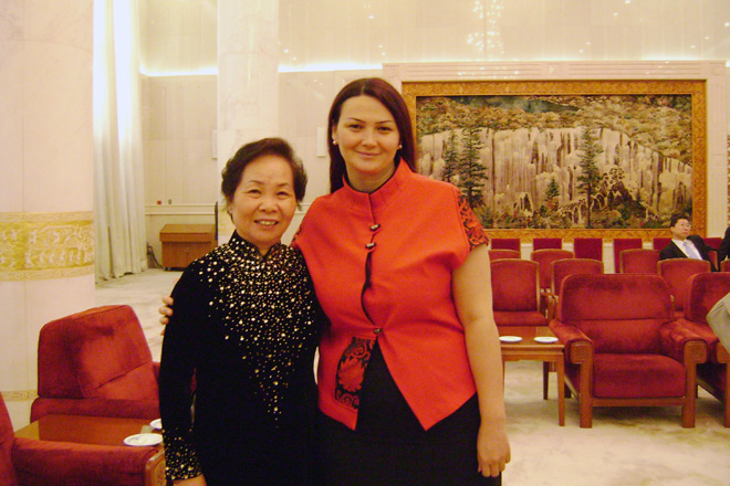Azerbaijani MP meets with first ladies of countries and women ministers in Beijing (PHOTO) - Gallery Image