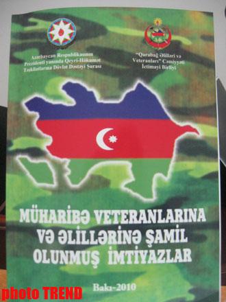 В Баку озвучены проблемы ветеранов и инвалидов Карабахской войны (фотосессия) - Gallery Image