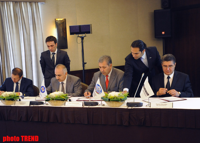 Azerbaijan sign agreement on People's Computer project's main phase (PHOTO) - Gallery Image