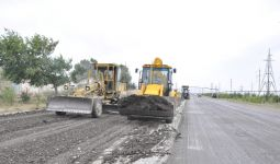 Repair work starts on road leading to enterprises of Azerkimya production union - Gallery Thumbnail