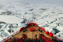 Russian fishing vessel damaged and stranded near Antarctica