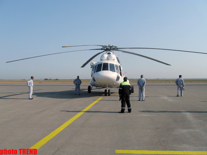 Two Azerbaijani helicopters off to Russia to extinguish fires (PHOTOS) - Gallery Image