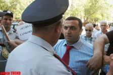 Rally prevented near OSCE office in Baku (PHOTO) - Gallery Thumbnail