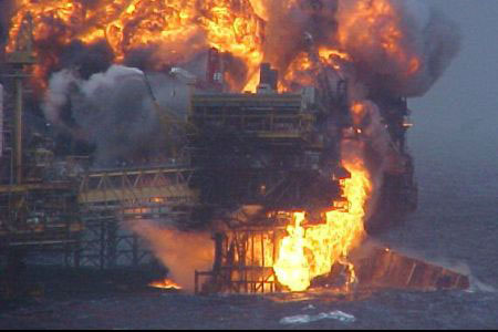 13 rescued after Gulf of Mexico oil rig explosion