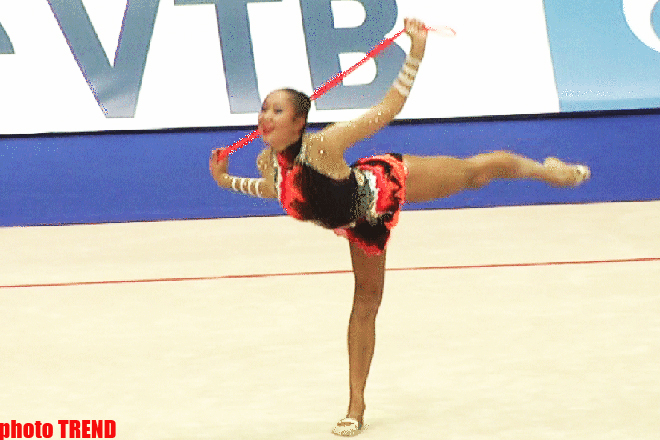 Azerbaijani gymnasts compete in rope exercises in Moscow   (UPDATE) (PHOTOS) - Gallery Image