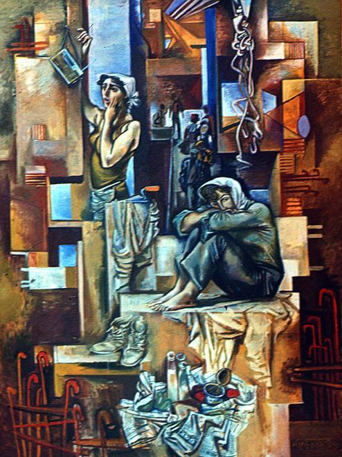 Вернисаж заслуженного художника Азербайджана Исмаила Мамедова (фотосессия) - Gallery Image