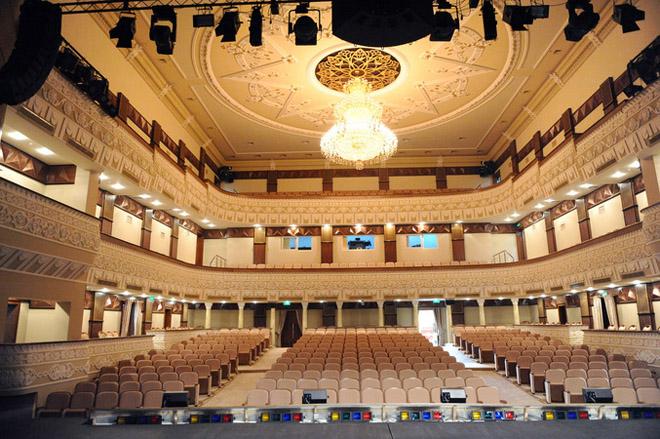 Azerbaijani President inaugurates building of Azerbaijan State Academic National Drama Theatre after major reconstruction (PHOTO) - Gallery Image