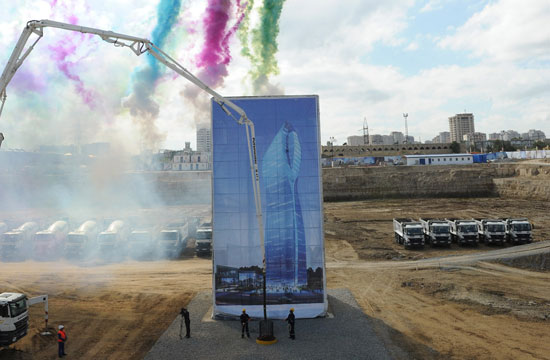 Azerbaijani President attends laying foundation ceremony of SOCAR's new administrative building (PHOTO) - Gallery Image