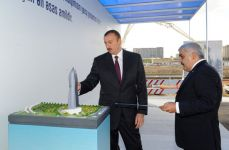 Azerbaijani President attends laying foundation ceremony of SOCAR's new administrative building (PHOTO) - Gallery Thumbnail