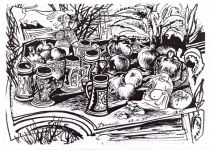 Вернисаж работ заслуженного художника Азербайджана Исмаила Мамедова. Натюрморт (фотосессия) - Gallery Thumbnail