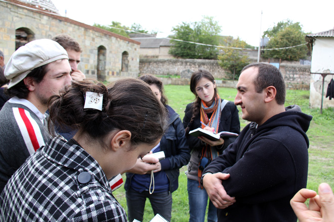 Georgian journalists get acquainted with problems of Azerbaijanis in Georgia (PHOTO) - Gallery Image