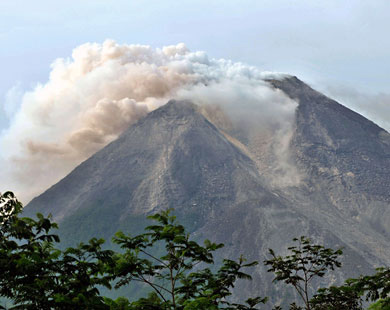 Volcano eruption in Indonesia displaces more than 2,000