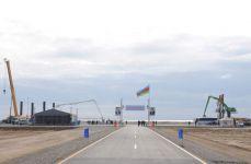 Azerbaijani President attends foundation laying of new Baku International Sea Trade Port Complex (PHOTO) - Gallery Thumbnail