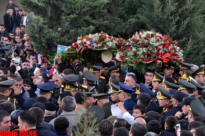 Azerbaijani servicemen buried in second Alley of Honors (UPDATE) (PHOTO)