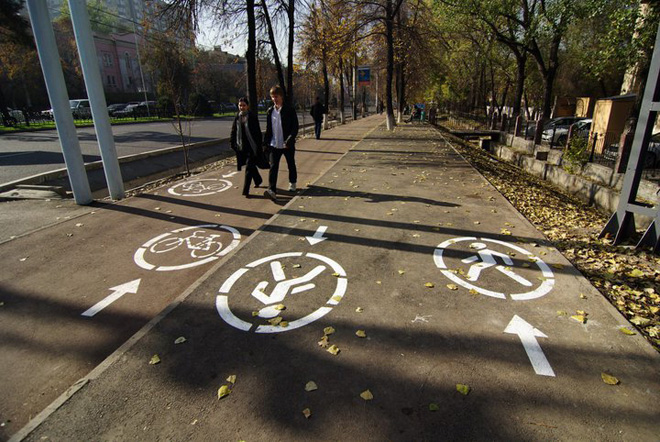 First Central Asian 'bike lanes' open in Almaty (PHOTO) - Gallery Image