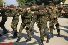 Azerbaijani Ombudsman and MP participated at the ceremony of taking oath of allegiance by soldiers (PHOTO) - Gallery Thumbnail