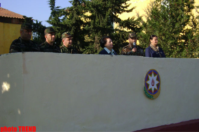 Azerbaijani Ombudsman and MP participated at the ceremony of taking oath of allegiance by soldiers (PHOTO) - Gallery Image