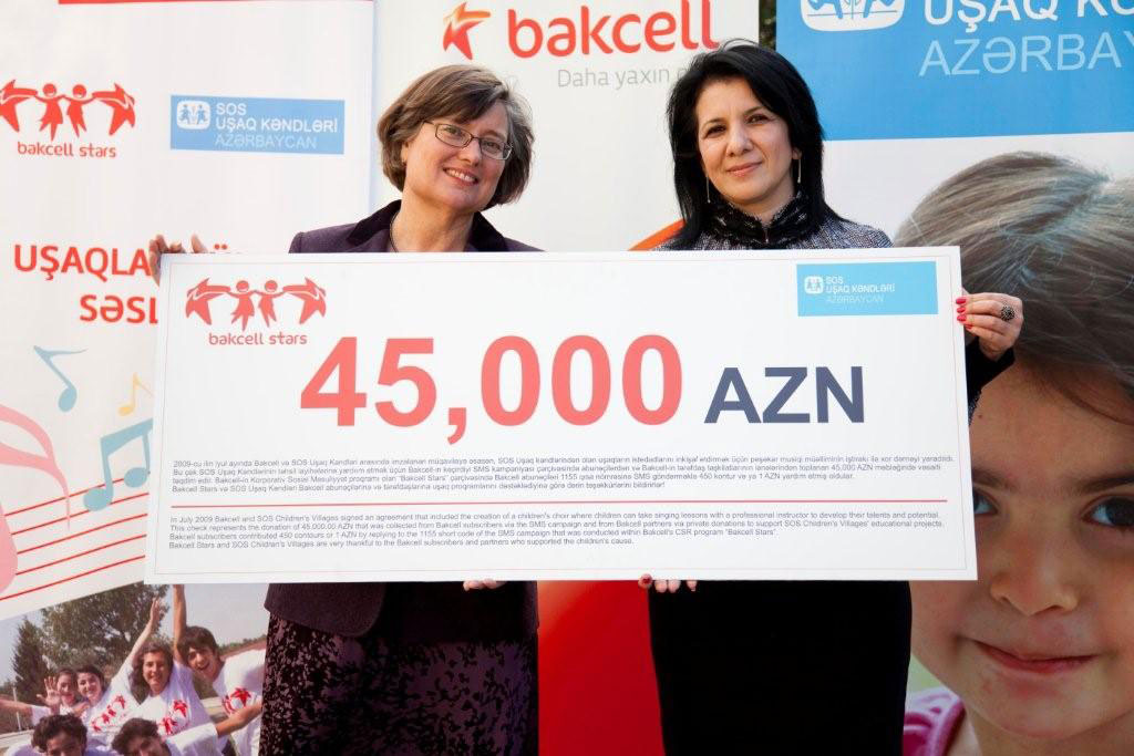 Bakcell subscribers donated 45,000 manat to SOS Children's Villages' projects