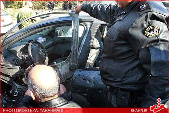 Tehranda ali məktəbin iki müəlliminin avtomobili partladılıb (ƏLAVƏ OLUNUB-2) (FOTO) - Gallery Image
