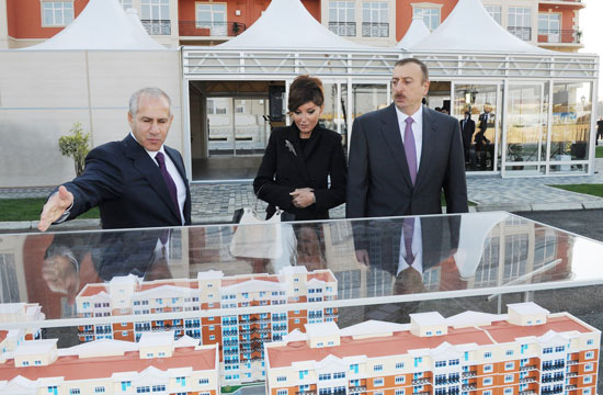 President Ilham Aliyev inaugurates building for Karabakh war disabled and shahid families (UPDATE) (PHOTO) - Gallery Image