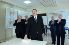 President Ilham Aliyev attends opening ceremony of Oguz-Gabala-Baku water pipeline (PHOTO) - Gallery Thumbnail