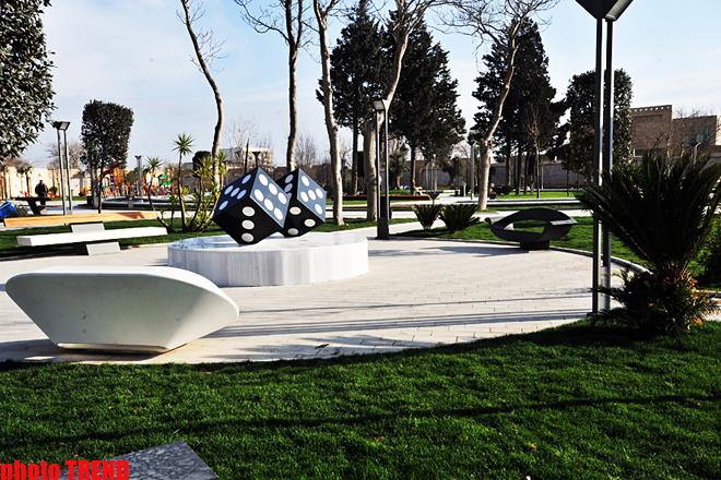 Bakı Ticarət Limanı yaxınlığında yeni salınan park (FOTO)