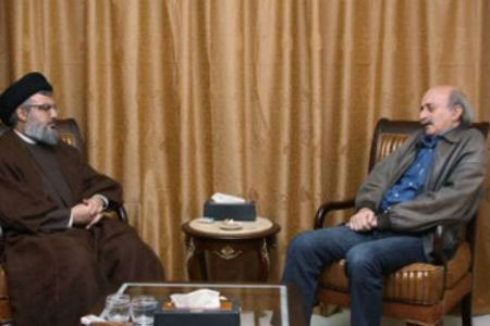 Nasrallah, Jumblatt discuss crisis