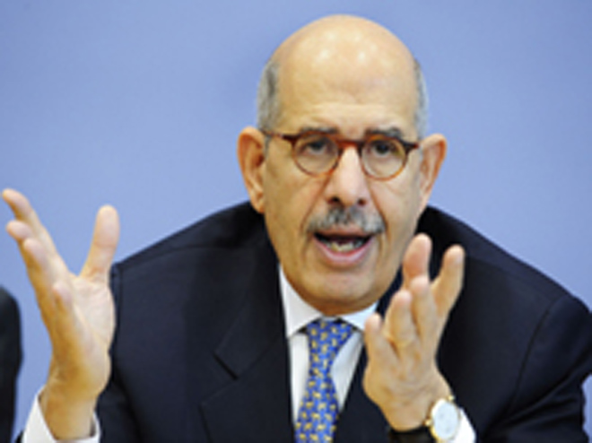Opposition figure ElBaradei unable to leave mosque, report