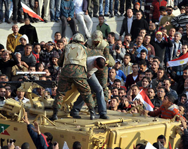 Egyptians stage anti-military protest