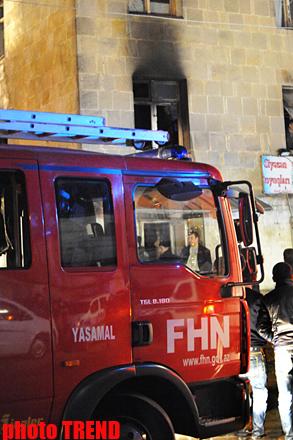 В Баку сгорел военный комиссариат