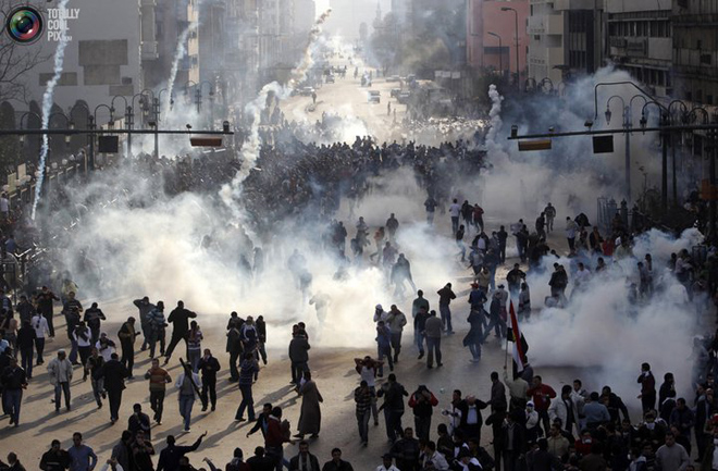In Tahrir Square, Egyptian Army chief tells protesters to go