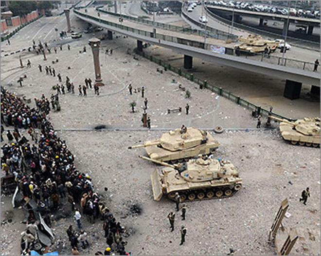 Military ruler calls on Egyptians to trust army