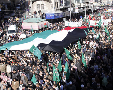 Rally to replace street protests in Jordan