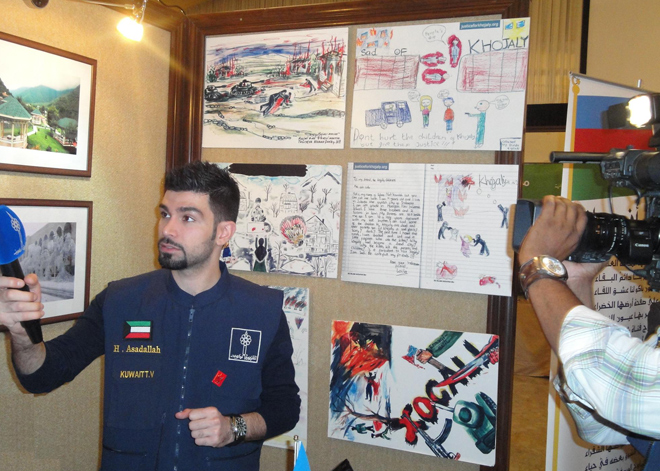 Stand on Khojaly genocide presented at int'l exhibition in Kuwait (PHOTO) - Gallery Image