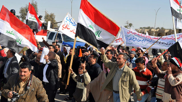 Iraqis protest after 100-day services reform deadline expires