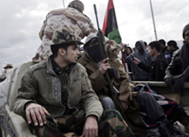 Rebels claim to have destroyed two Gaddafi warships