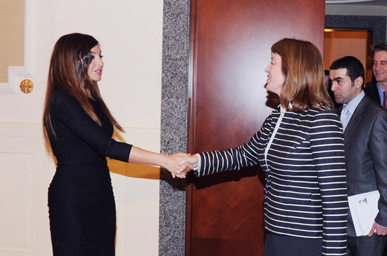 First Lady of Azerbaijan meets US science envoy (PHOTO) - Gallery Image