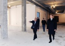 Azerbaijani President inspects construction in new building of school in Sabail district (PHOTO) - Gallery Thumbnail