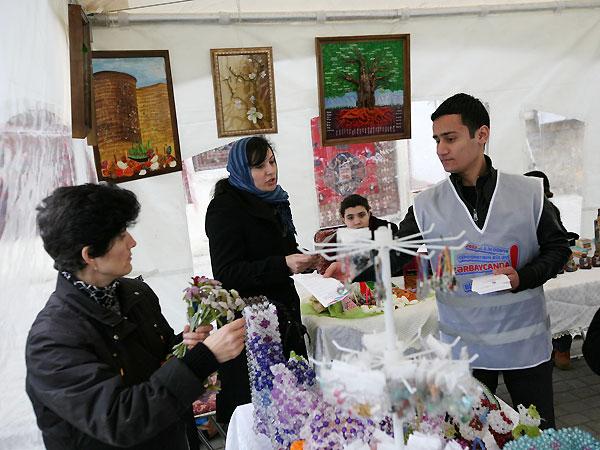 AFFA Novruz bayramı münasibətilə təşkil olunan Meydan bazarında iştirak edib (FOTO) - Gallery Image