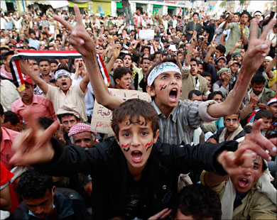 Thousands of Yemenis in rival rallies after Saleh's appearance