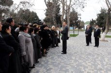 Azerbaijan's President examines work done in districts of Baku (PHOTO) - Gallery Thumbnail