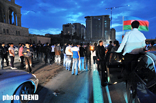 Azerbaijan celebrating victory in the Eurovision Song Contest (UPDATE) (PHOTOSESSION) - Gallery Image