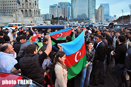 Azerbaijan celebrating victory in the Eurovision Song Contest (UPDATE) (PHOTOSESSION)