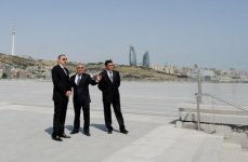 Azerbaijani President Familiarizes himself with Ongoing Improvement and Construction Works Around State Flag Square (PHOTO) - Gallery Thumbnail