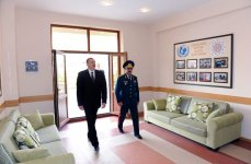 President Ilham Aliyev inaugurates residential complex for border guards (PHOTO) - Gallery Thumbnail