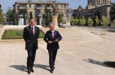 Azərbaycan Prezidenti İlham Əliyev Zivər bəy Əhmədbəyov parkının açılışında iştirak edib (FOTO) - Gallery Thumbnail